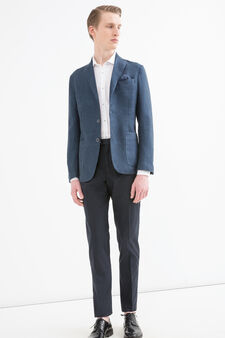Rumford 100% linen jacket, Blue, hi-res