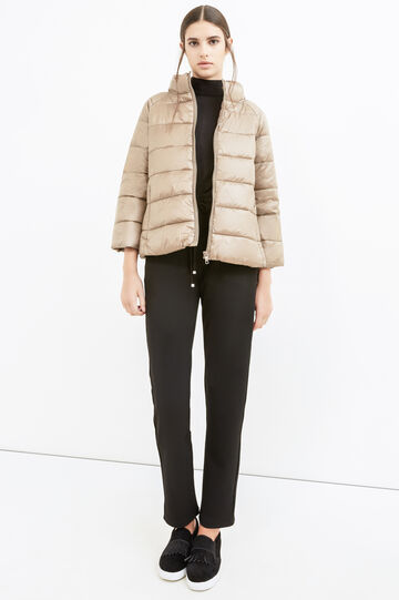 Down jacket with three-quarter sleeves, Beige, hi-res