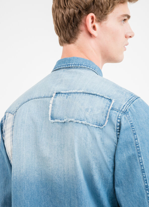 G&H casual denim shirt with patches | OVS