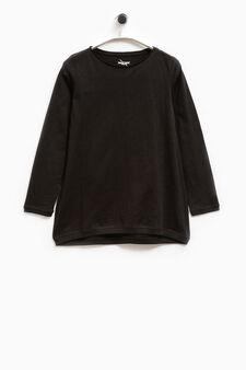 Smart Basic long-sleeved T-shirt, Black, hi-res