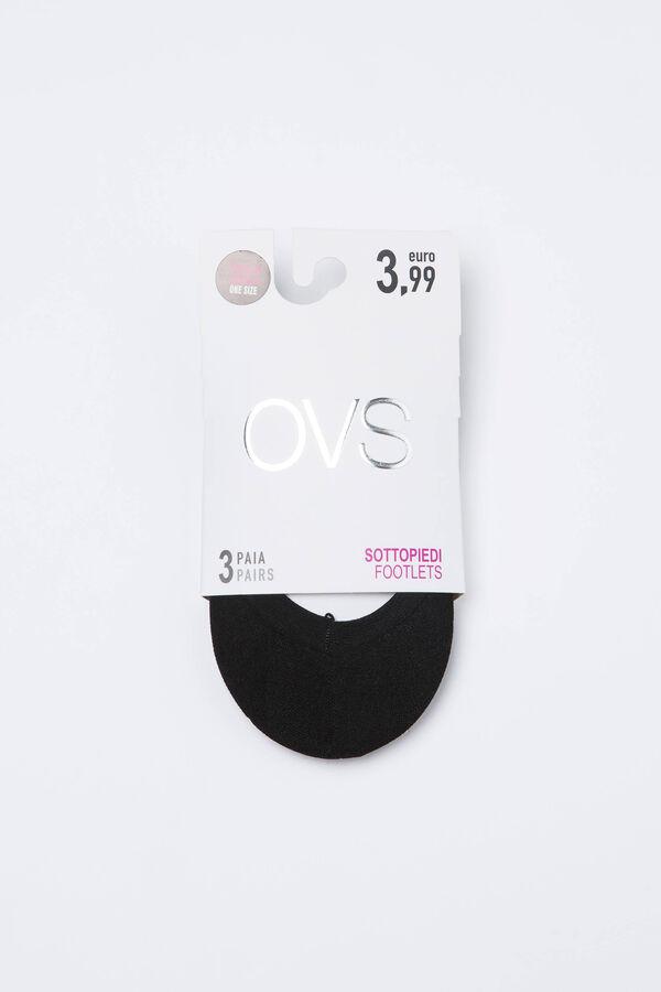 Set tre calze salvapiede tinta unita | OVS