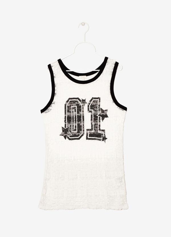 Lace latticework vest | OVS