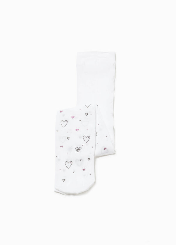 Collant stampa glitterata a cuori all-over | OVS