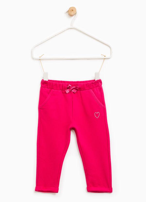 Pantalón de chándal de algodón con strass | OVS