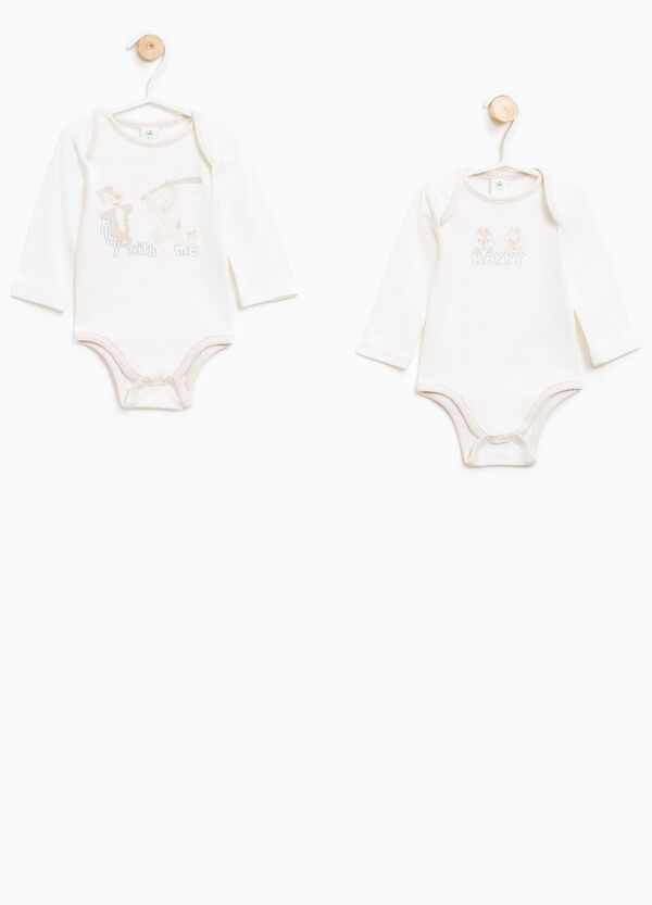 Two-pack Chip 'n' Dale bodysuits in cotton | OVS