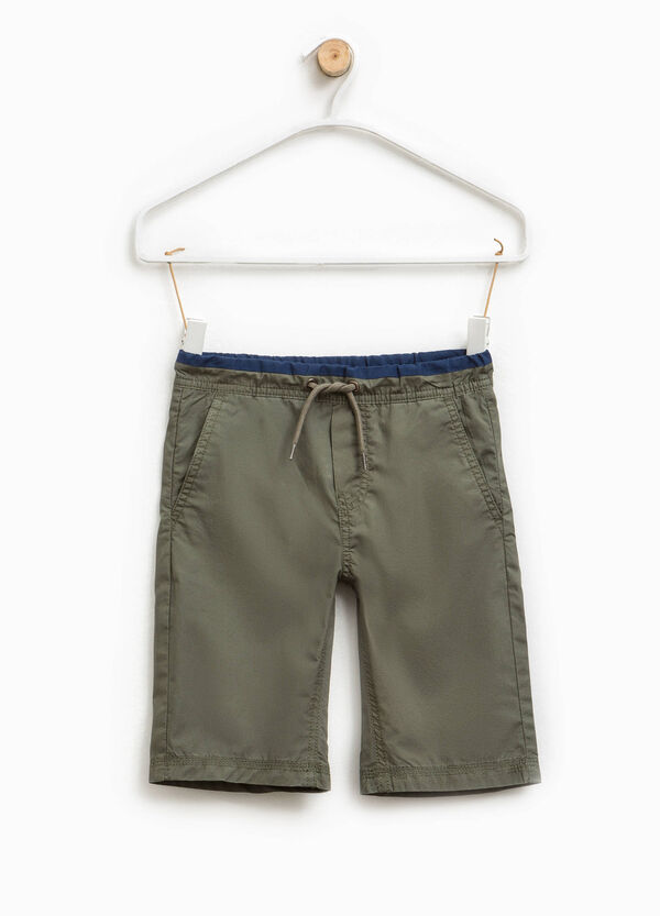 Bermuda shorts with elasticated striped waistband | OVS