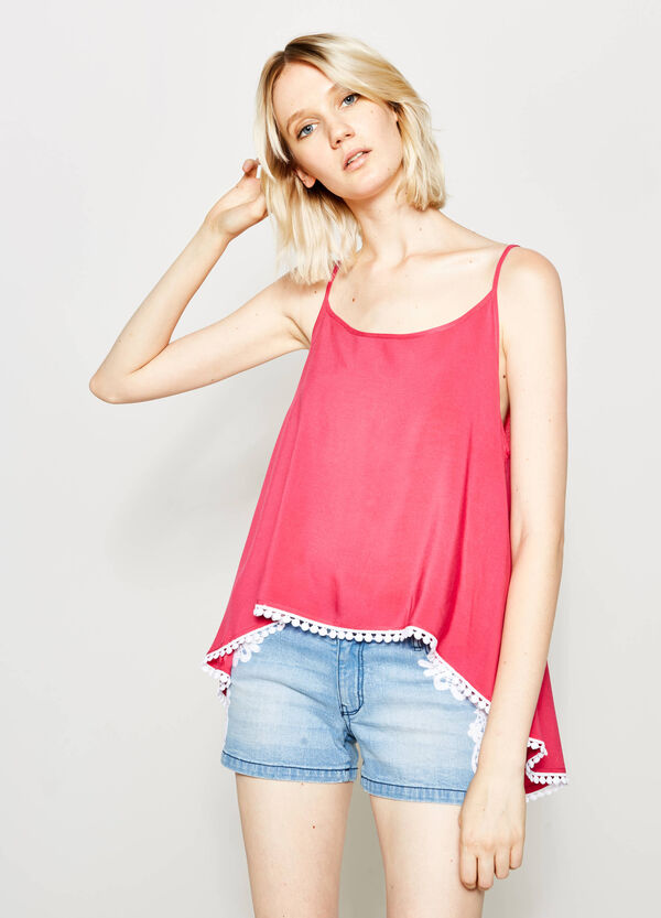 Top with round neck and split | OVS