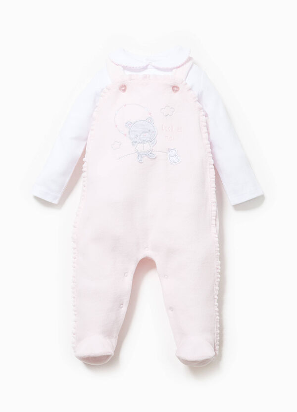 T-shirt and onesie set with patch | OVS