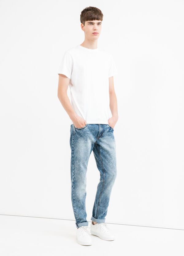 Skinny-fit, mis-dyed-effect jeans | OVS