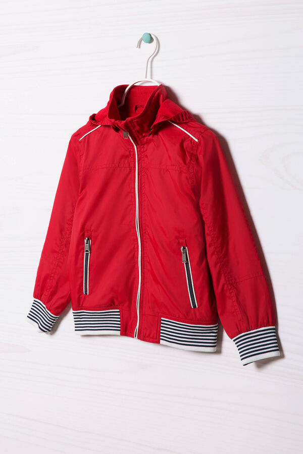 Hooded windbreaker. | OVS
