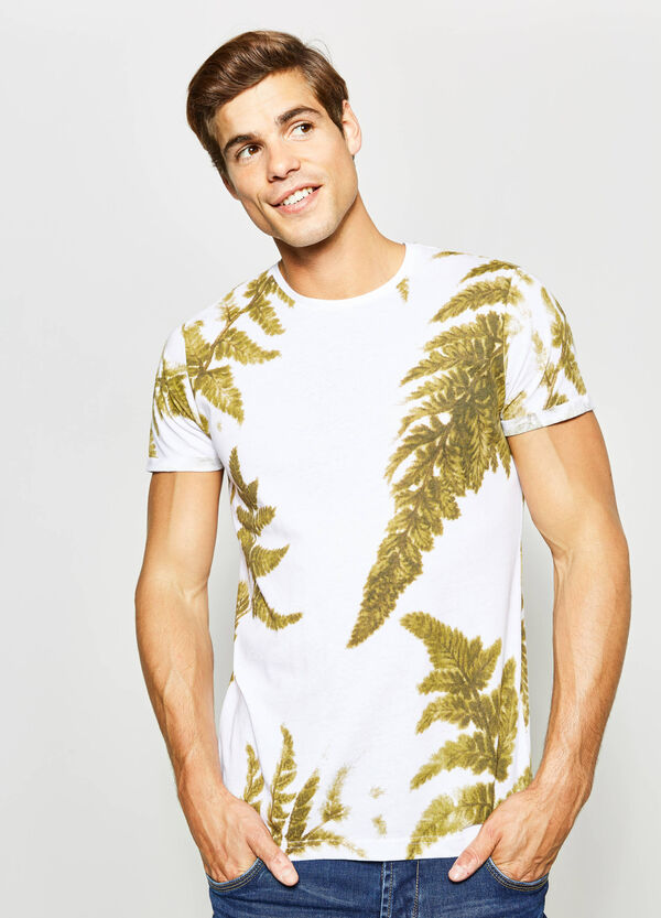 Cotton blend floral T-shirt | OVS