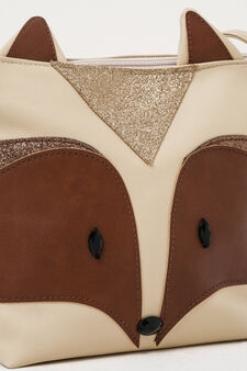 Shoulder bag with ears, Beige, hi-res