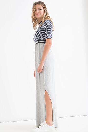 Teen viscose blend long skirt., Grey, hi-res
