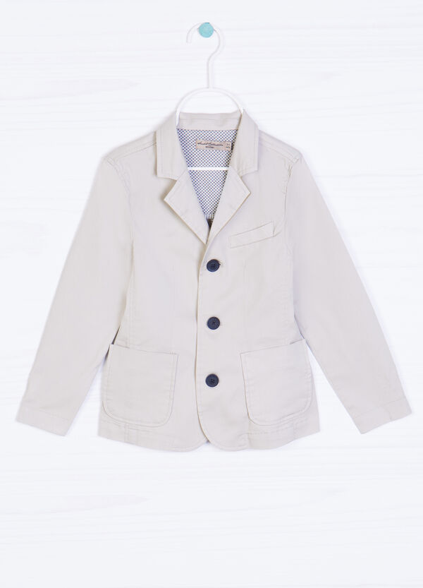 100% cotton jacket with buttons   OVS