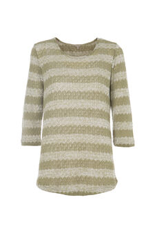 Smart Basic striped T-shirt, White/Green, hi-res