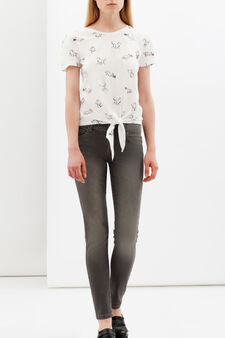 Skinny fit stretch jeans, Grey, hi-res