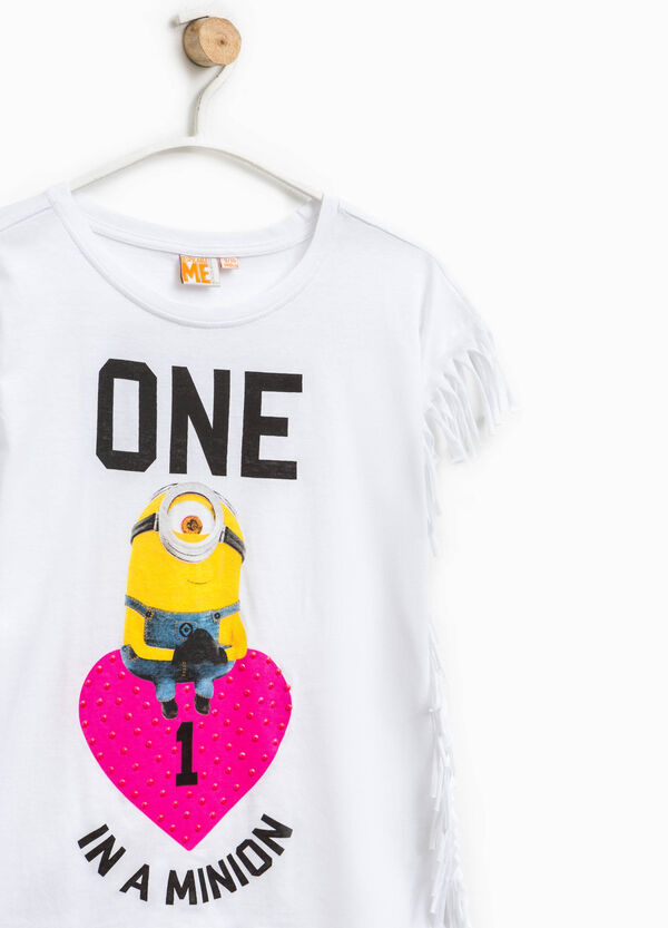 Minions print T-shirt with fringing   OVS