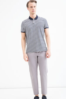 Regular-fit chino trousers in cotton twill, Grey, hi-res