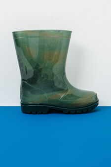 Patterned Wellington boots, Army Green, hi-res