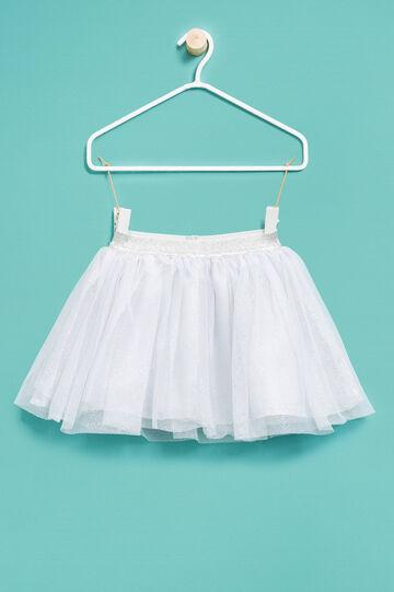 Falda de tul con purpurina, Blanco, hi-res