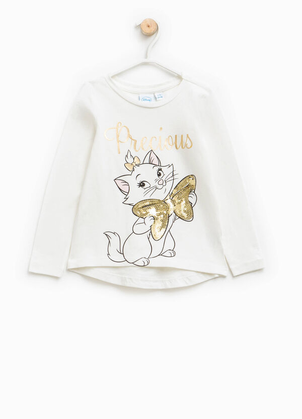 T-shirt with The Aristocats glitter print | OVS