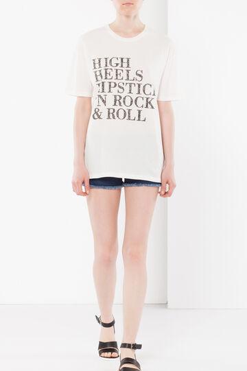 T-shirt maniche corte, Bianco, hi-res
