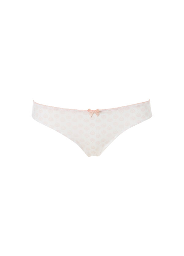 Stretch patterned Brazilian briefs | OVS