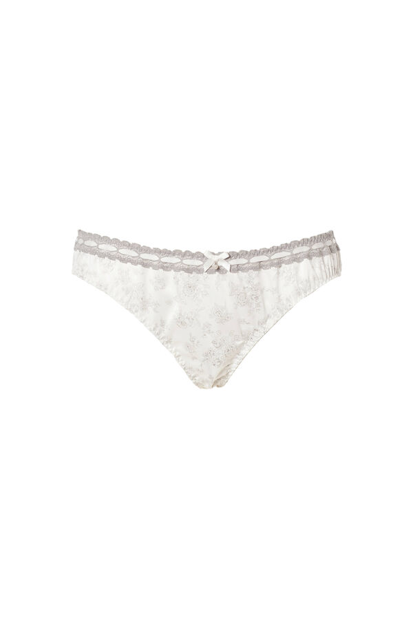 Lace trim briefs with bow | OVS