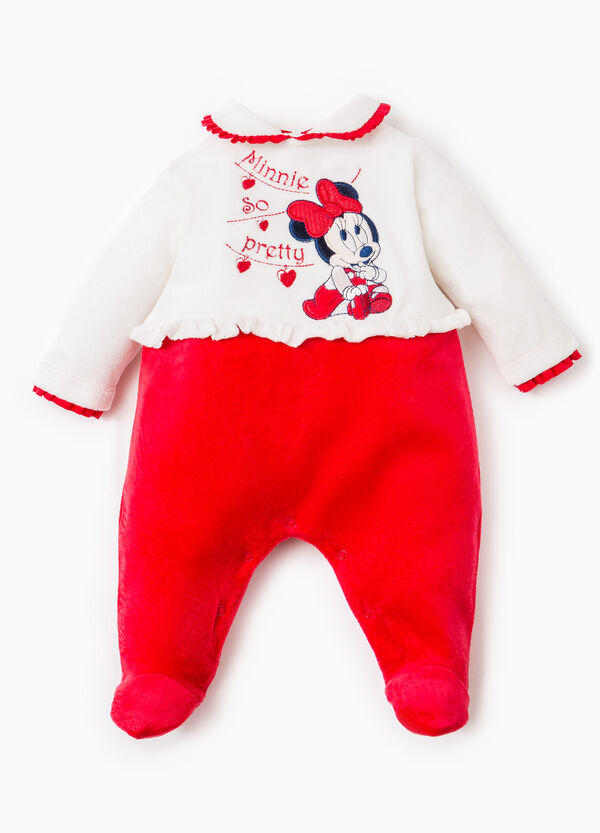 Onesie with frills and Baby Minnie Mouse patch | OVS