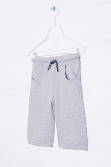 Solid colour 100% cotton Bermuda shorts, Grey Marl, hi-res