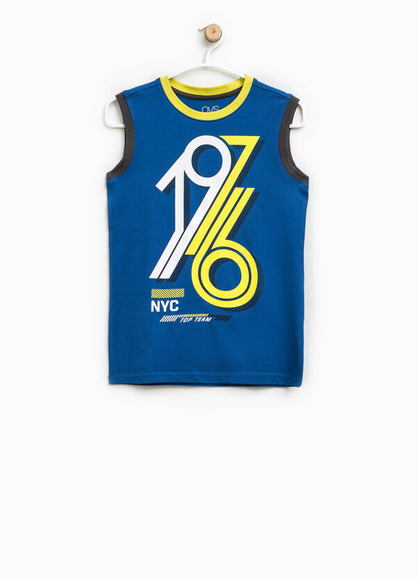 Vest top with printed lettering | OVS