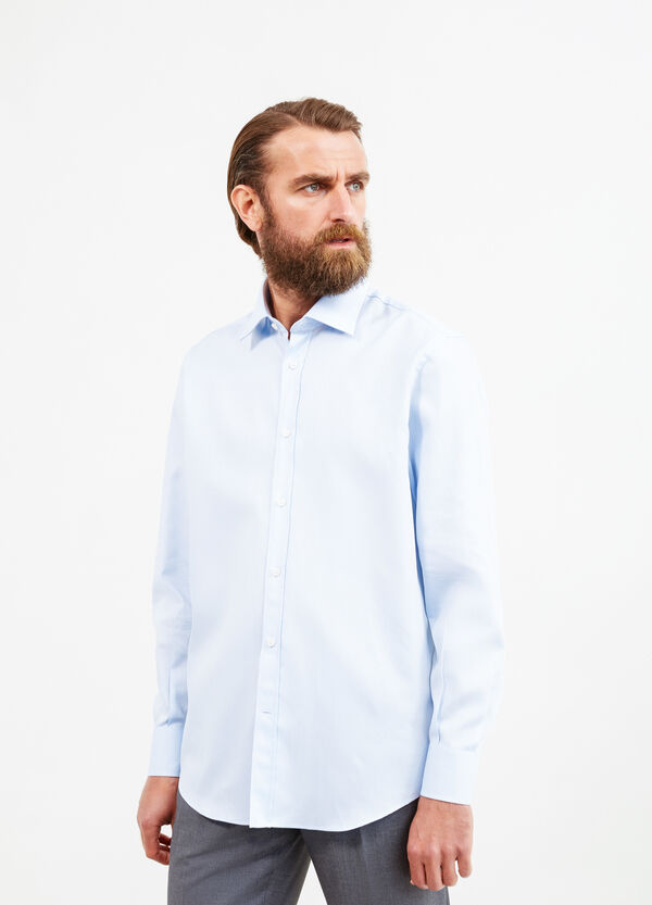 Solid colour regular fit formal shirt | OVS
