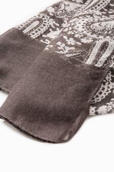 Paisley scarf, Grey, hi-res