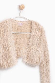 Fur wrap with lurex, Pink, hi-res