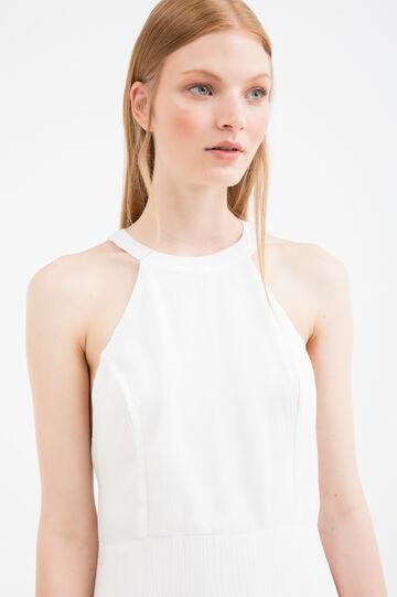 Short sleeveless dress in 100% viscose, White, hi-res