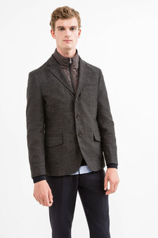 Jacket with removable lining and zip, Grey, hi-res