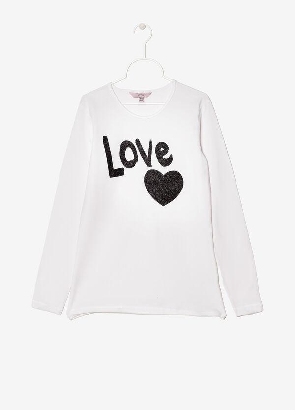 T-shirt a maniche lunghe con stampa | OVS