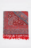 100% viscose scarf with jacquard design, Multicolour, hi-res