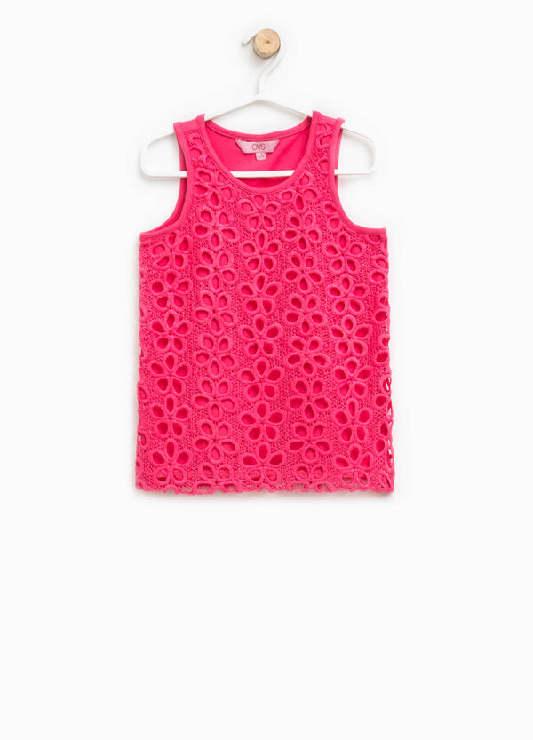 Top with floral openwork design | OVS