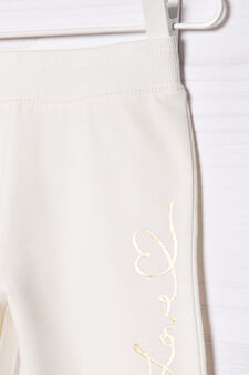 Stretch cotton joggers, Milky White, hi-res