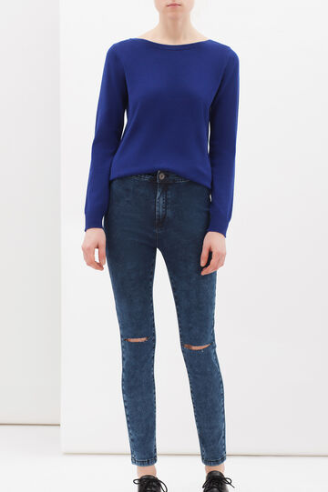 Cashmere and silk blend pullover, Cornflower Blue, hi-res