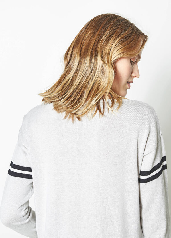 Pullover with printed sleeves | OVS