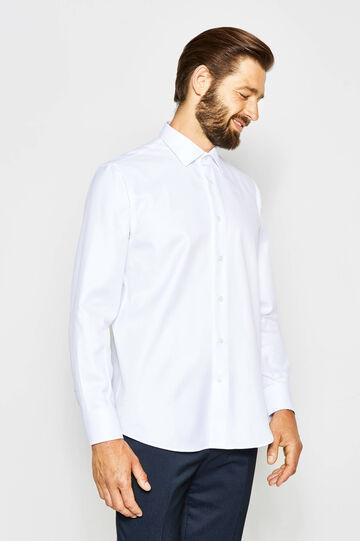 Regular-fit formal shirt in 100% cotton