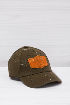 Baseball cap with patches, Army Green, hi-res