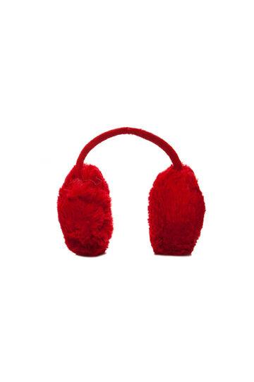 Paraorecchie in pelliccia, Rosso, hi-res