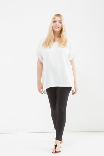 Curvy blouse in viscose blend, Cream White, hi-res