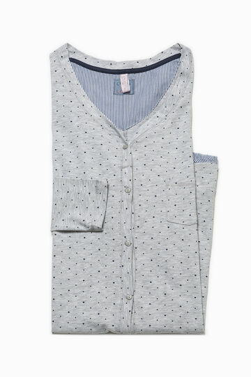 Polka dot patterned nightshirt