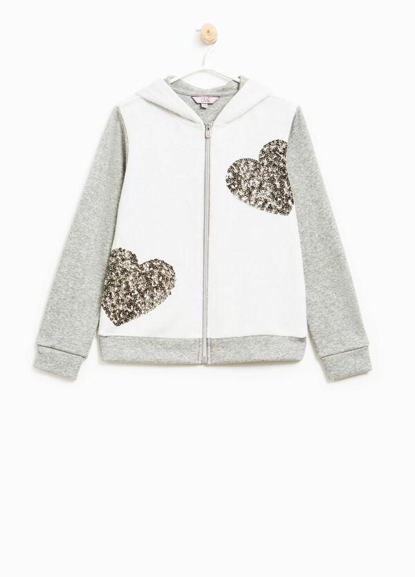 Fur and sequins sweatshirt | OVS