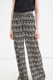 Trousers with all-over print, Black, hi-res