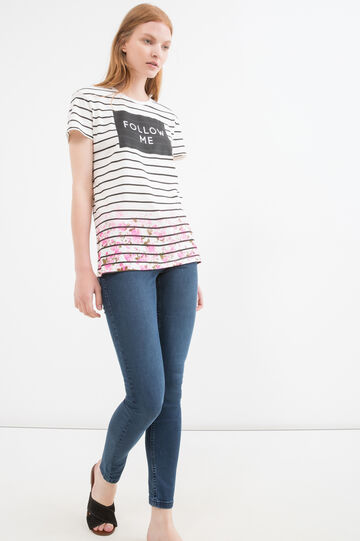 Printed T-shirt in 100% cotton, White, hi-res
